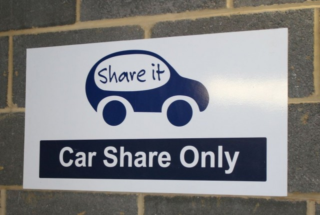 car share sign
