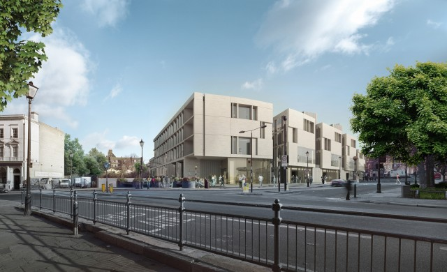 CampbellReith.  Stockwell Street.  Image of development.  Courtest of HParc  UoG 2