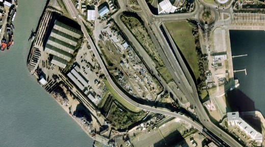 Thames Wharf Google Eath Aerial image reduced