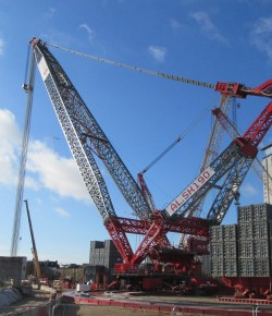 CampbellReith helps support London's largest crane